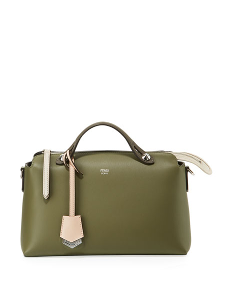 Fendi By The Way Mini Colorblock Leather Satchel