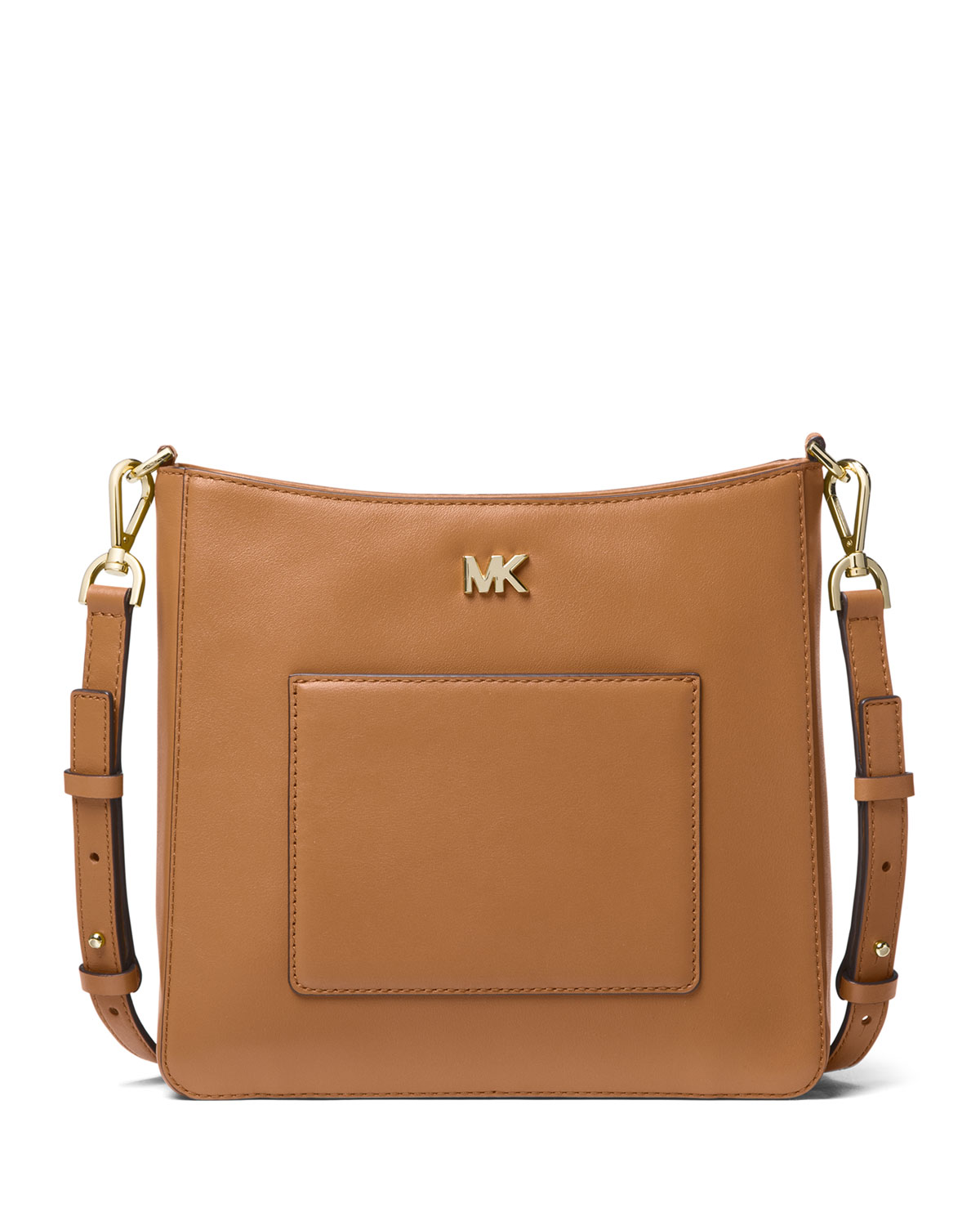 a7077efcc780 MICHAEL Michael Kors Gloria Pocket Leather Swing Pack Messenger Bag ...