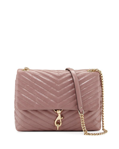 Edie Quilted Leather Flap Shoulder Bag