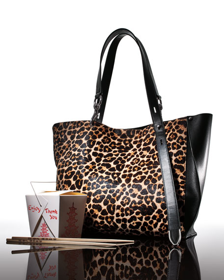 Image 2 of 4: Stella Large Leopard-Print Tote Bag
