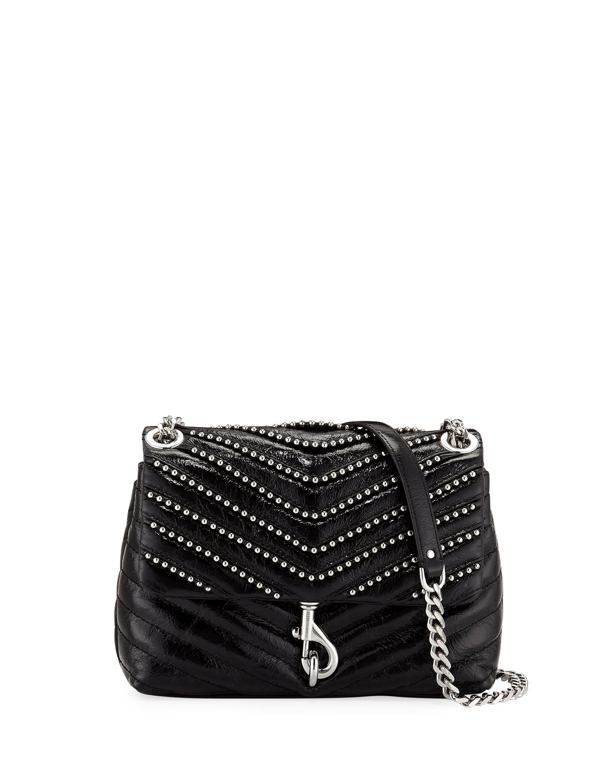 67d3185edca Edie Flap Studded Leather Crossbody Bag