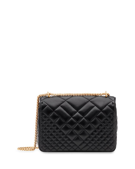 Versace Icon Medium Quilted Napa Shoulder Bag