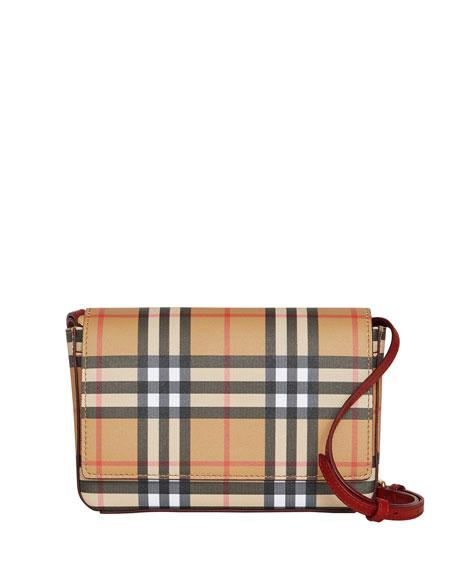 Burberry Hampshire Vintage Check Shoulder Bag