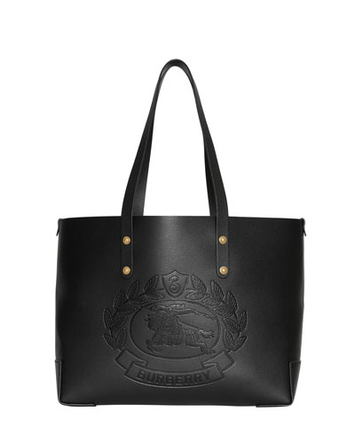 Crest Small Leather Tote Bag