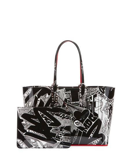 Christian Louboutin Cabata Small Patent Nicograf Tote Bag