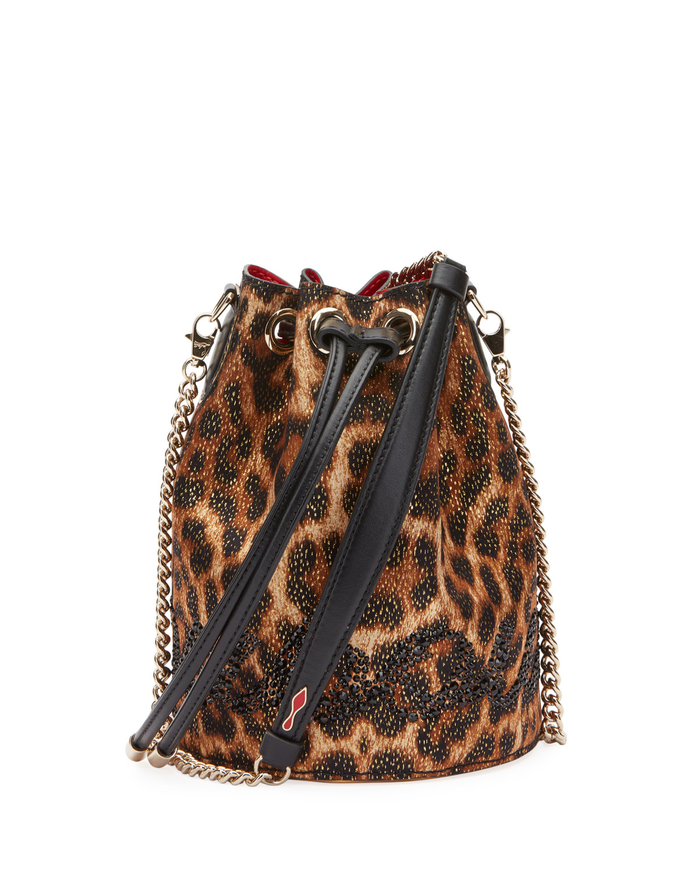 0bce3409ac87 Christian LouboutinMarie Jane Leopard-Print Bucket Bag