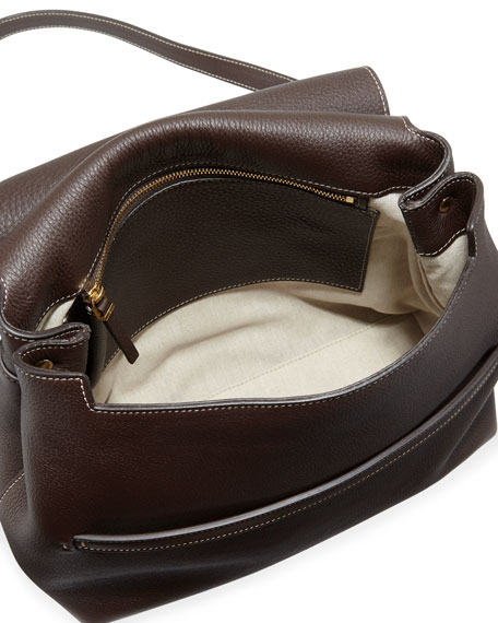 Sideby Equestrian Leather Crossbody Messenger Bag
