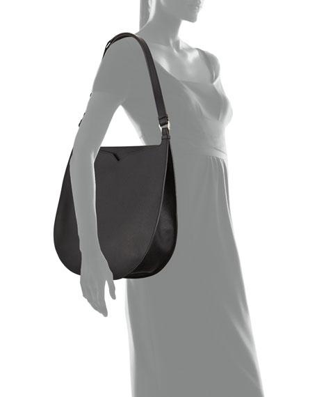 Valextra Weekend Hobo Large Leather Shoulder Bag