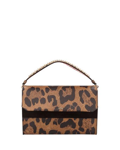 Christian Louboutin Loubiblues Leopard-Print Clutch Bag with