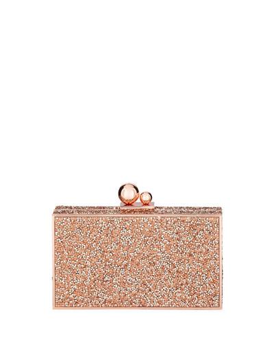 Clara Crystal Box Clutch Bag  Gold
