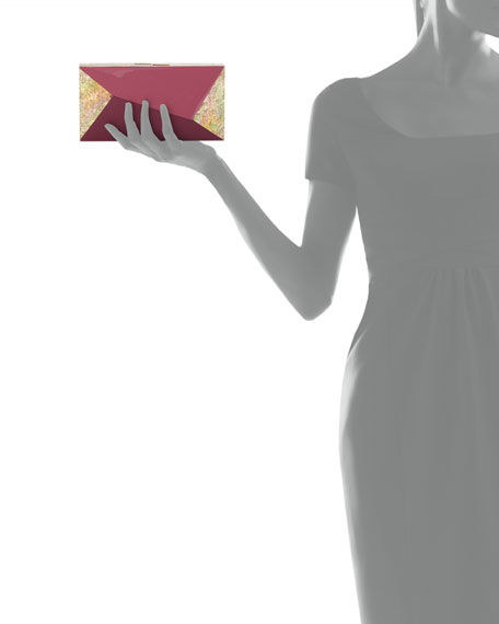 Rafe Melissa Rectangular Shell Minaudiere Clutch Bag