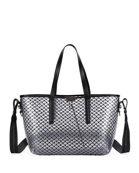 Off-White PVC Net Shopper Tote Bag, Black