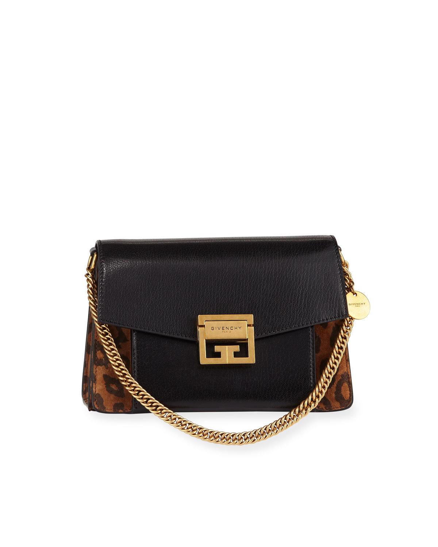 0be742fcb5 Givenchy GV3 Small Leopard Shoulder Bag