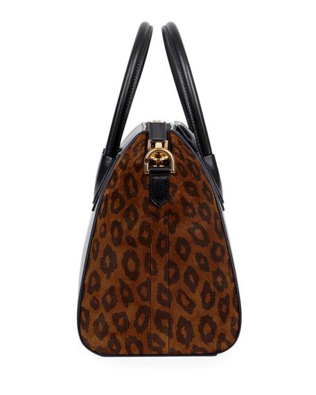 Givenchy Antigona Small Leopard Satchel Bag
