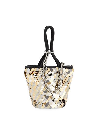Roxy Mini Sequined Bucket Bag
