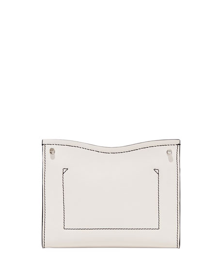 Proenza Schouler Curl Small Chain Smooth Leather Clutch Bag