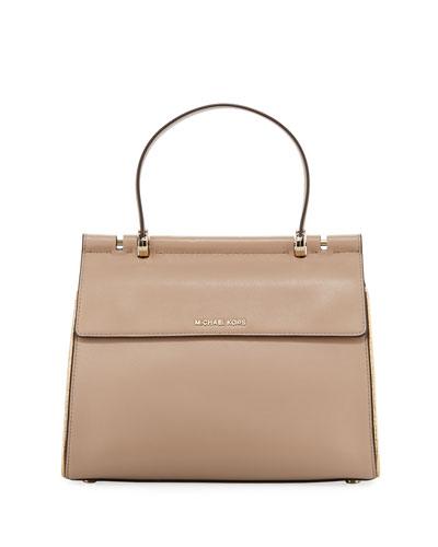 7c20437ecc40 MICHAEL Michael Kors Jasmine Medium Leather Satchel Bag