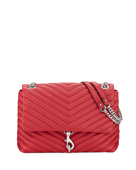 Rebecca Minkoff Leathers EDIE QUILTED LEATHER SHOULDER BAG