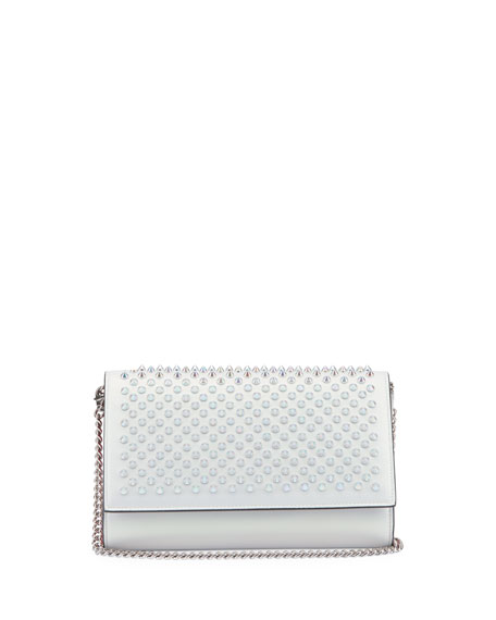 Christian Louboutin Paloma Calf Paris Specchio Laser Spikes Clutch Bag
