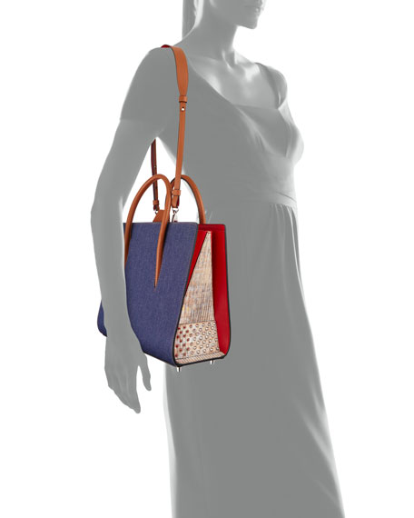 Christian Louboutin Paloma Medium Denim Tote Bag