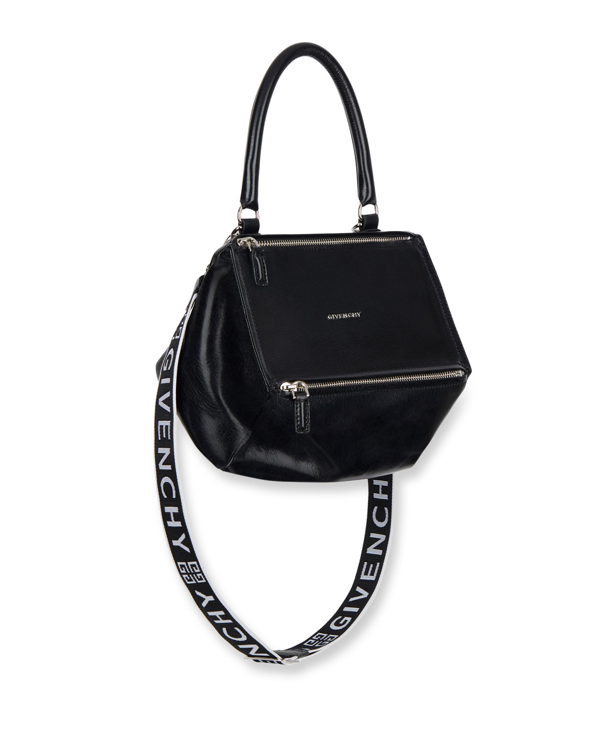 online for sale new style of 2019 high fashion Pandora Small Smooth Leather Crossbody Bag with Logo-Web Strap