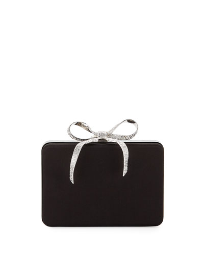 Crystal Bow Minaudiere Clutch Bag