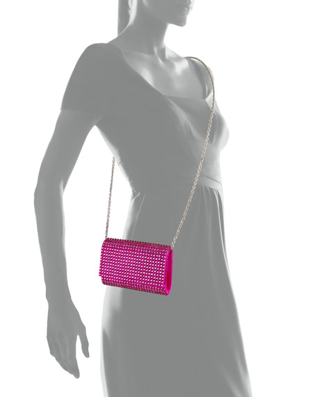 Judith Leiber Couture Fizzy Bling Crystal Crossbody Clutch Bag