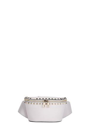 18a7f041d07 Valentino Garavani Rockstud Spike Calf Hair Belt Bag from Barneys ...