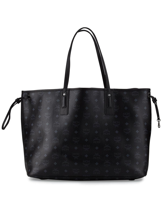 57b8f2ed5 MCM Liz Large Reversible Visetos Shopper Tote Bag | Neiman Marcus