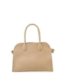 The Row Margaux 10 Grained Calf Leather Top Handle Bag by The Row
