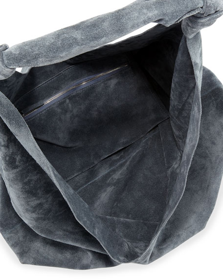 THE ROW Bindle Double-Knots Suede Hobo Bag