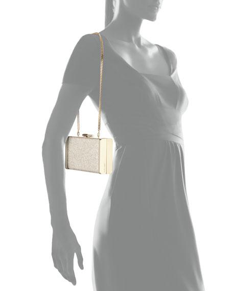 Jimmy Choo J Box Glittered Clutch Bag