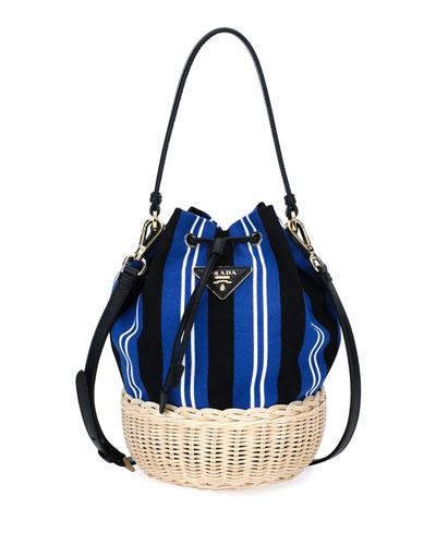 Prada Basket Canapa Bucket