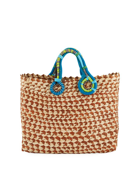 Nannacay - Cotio Belle Woven Colorblock Tote Bag