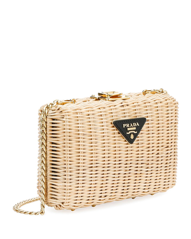 Basket Clutch by Prada
