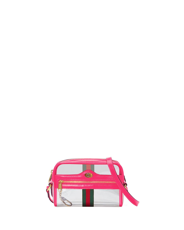 1a2b3f85d1 Gucci Ophidia Mini See-Through Vinyl Crossbody Bag