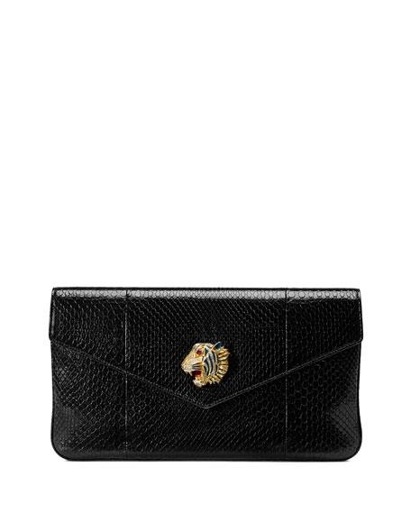 Gucci Clutch Rajah Snakeskin Envelope Clutch Bag