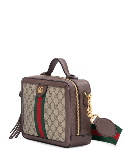 5085a9b122c3 Gucci Ophidia Small GG Supreme Shoulder Bag | Neiman Marcus