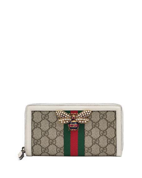 Gucci Queen Margaret GG Supreme Wallet