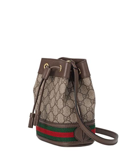 9c045f013 Gucci Ophidia Mini GG Supreme Canvas Bucket Bag | Neiman Marcus