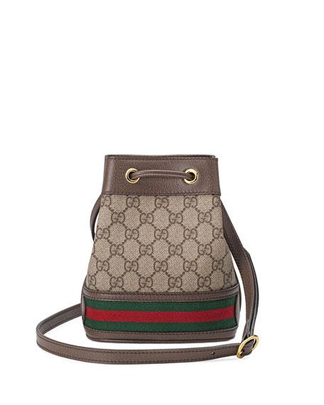 f4b9af9e6 Gucci Ophidia Mini GG Supreme Canvas Bucket Bag | Neiman Marcus