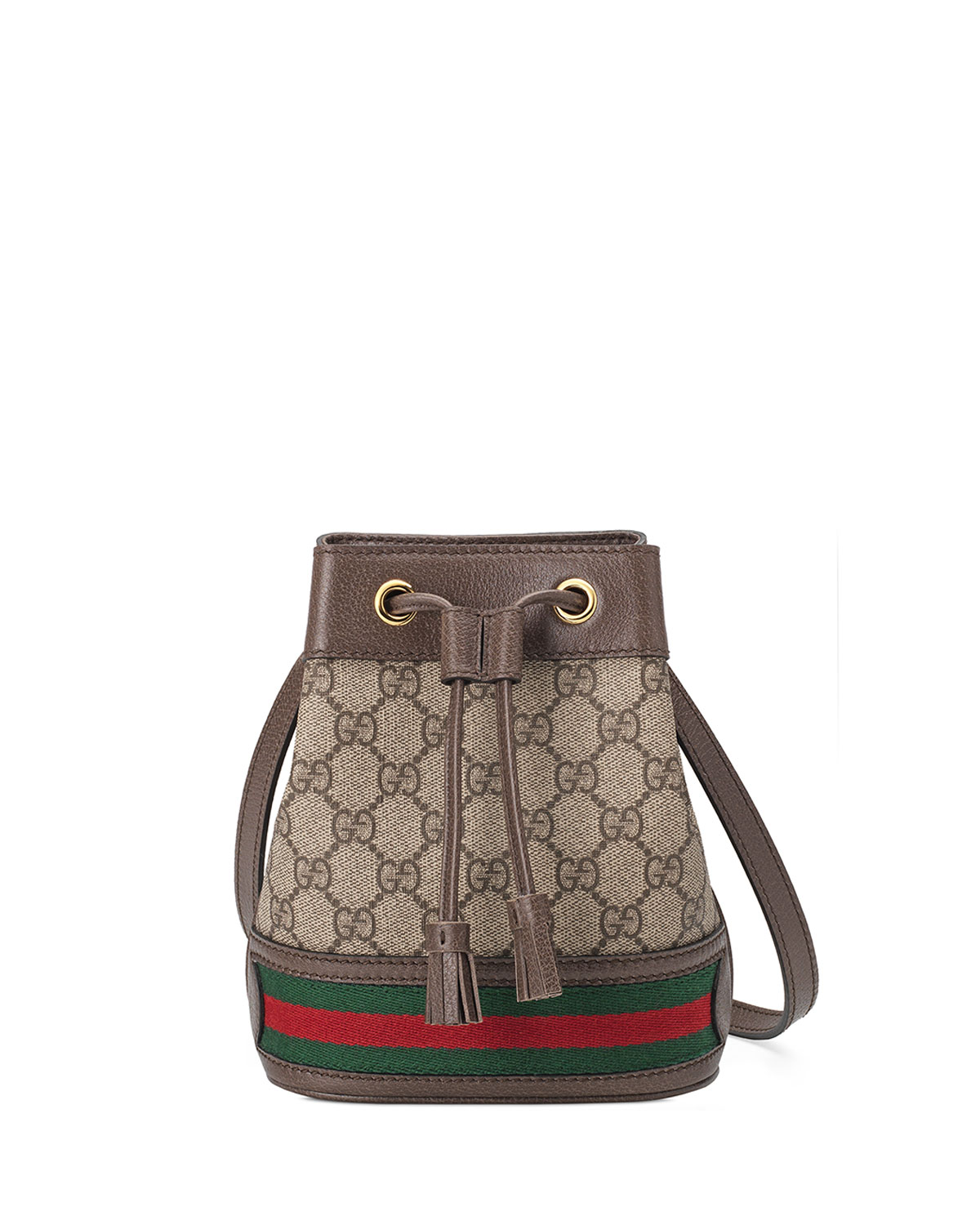 10693d0f7a2a Gucci Ophidia Mini GG Supreme Canvas Bucket Bag | Neiman Marcus