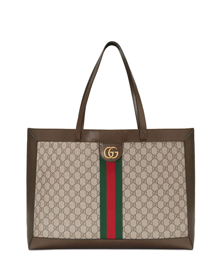 Gucci Ophidia Soft GG Supreme Canvas Tote Bag with Web