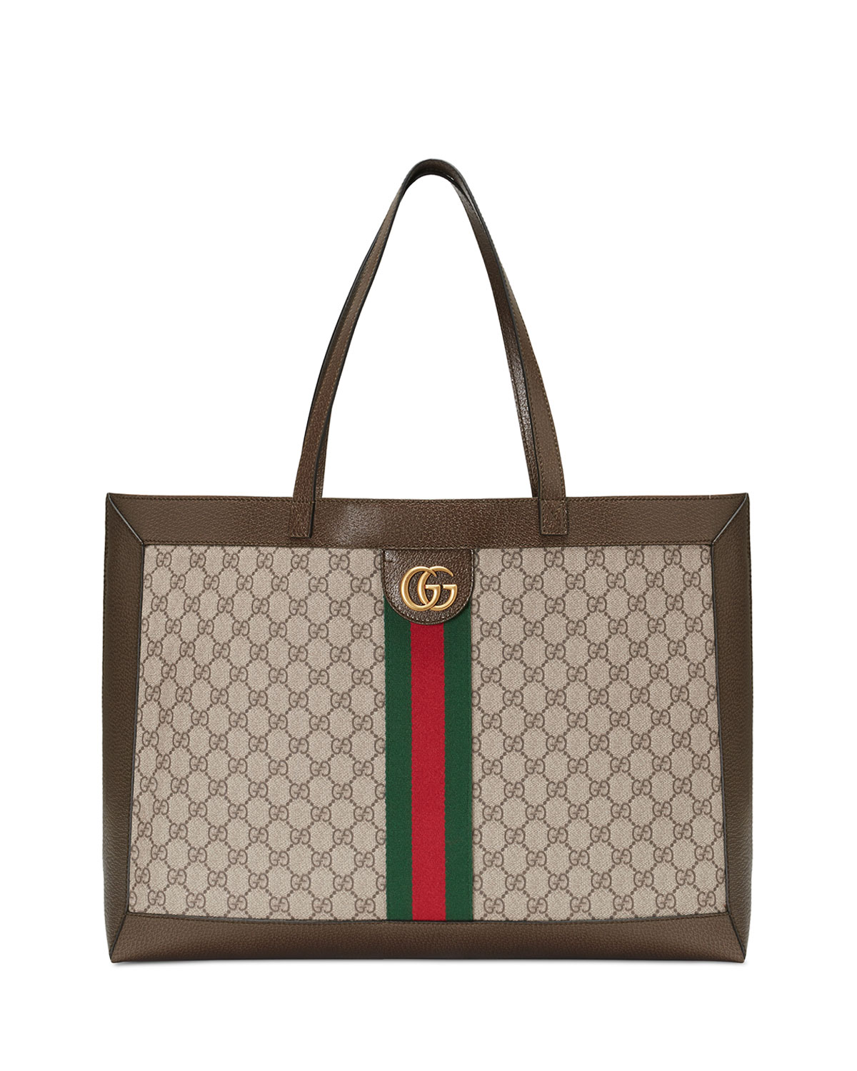 f5f0320d29ae Gucci Ophidia Soft GG Supreme Canvas Tote Bag with Web | Neiman Marcus