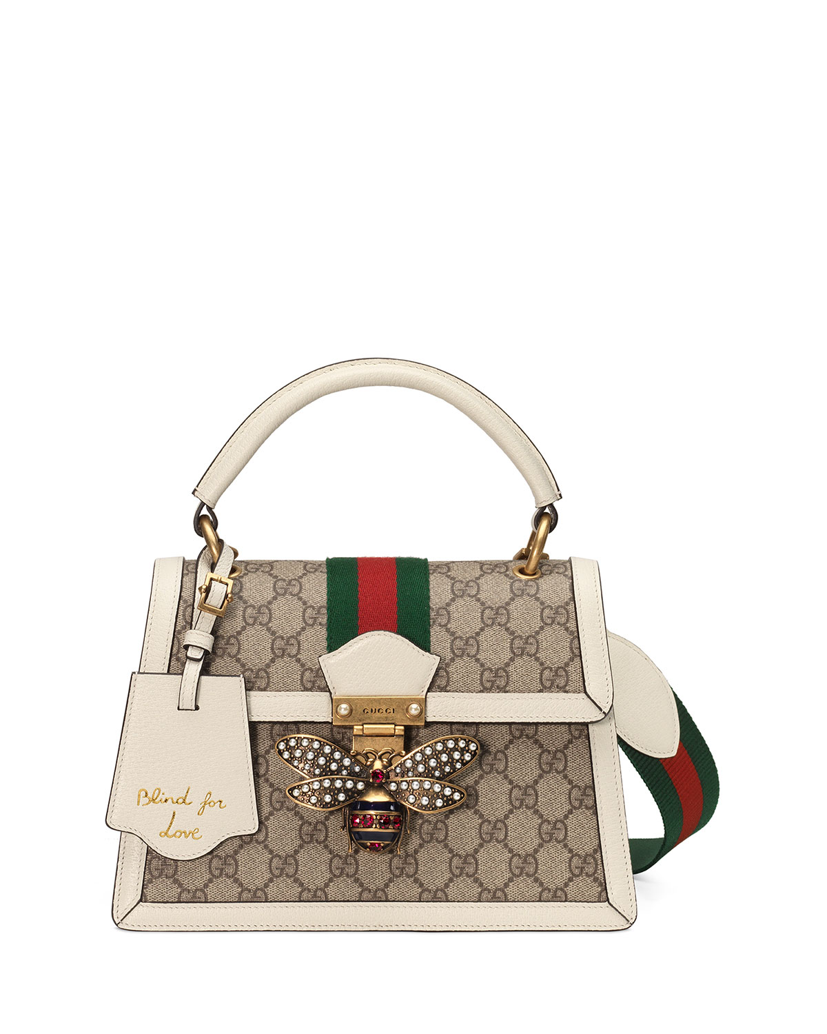 291e362f77cb Gucci Queen Margaret Small GG Supreme Top-Handle Bag | Neiman Marcus