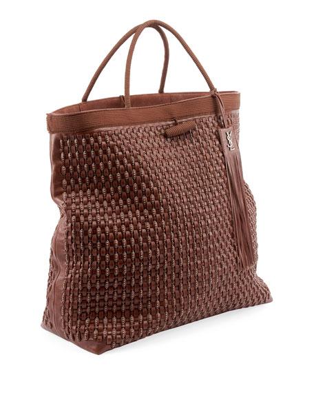 Saint Laurent Patti Large Woven Tote Bag