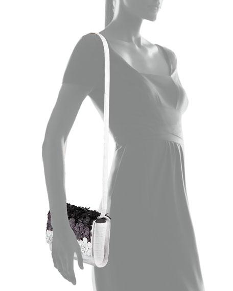 Nancy Gonzalez Carrie Small Floral Crocodile Clutch Bag