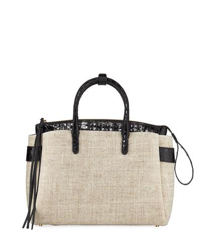 Cristie Medium Linen Tote Bag