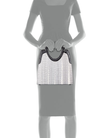 Nancy Gonzalez Small Keyhole Top-Handle Bag
