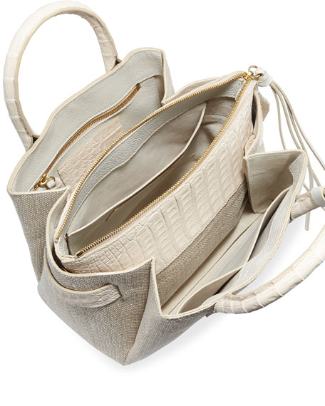 Nancy Gonzalez Cristie Small Linen Tote Bag